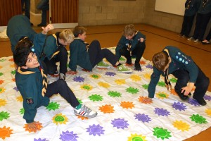 giant twister, cub scout games, puzzle mania, cub scout game ideas